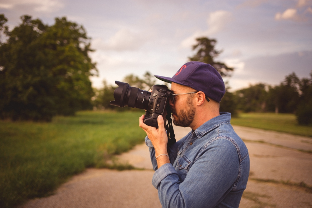 Nick photographing landscape