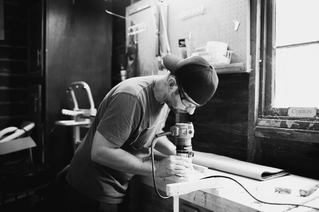 Danny working